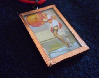 Pin Up Girl Necklace