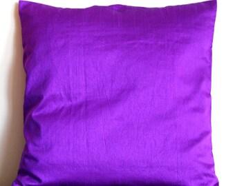 Purple Pillow, Solid Pillow, Purple Throw Pillow, Purple Cushion, Purple Pillow Cover, Decorative Pillow, Accent Pillow, 18x18 pillows
