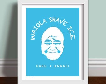 Waiola Shave Ice Hawaii Five-0 - Art Print Poster