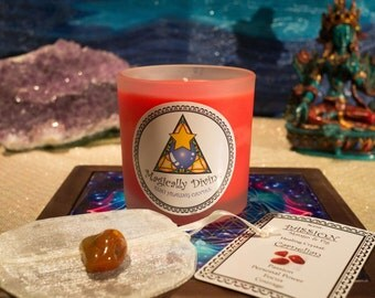 Passion- Reiki Healing Candle & Crystal