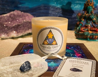 Happiness- Reiki Healing Candle & Crystal