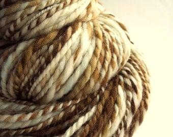 Chunky knitting wool,merino yarn, knitting yarn / wool, thick bulky yarn, ivory, brown, cream yarn, big knitting wool