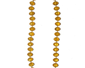 """Vintage 80's Yellow Gold Saucer Bead Necklace 18"""""""