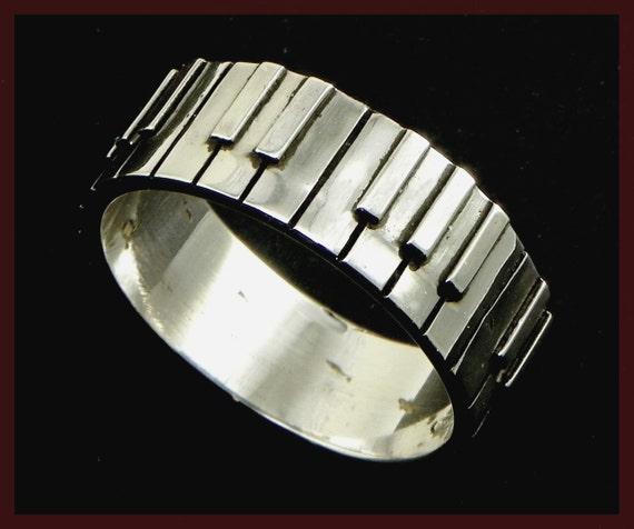 Piano Ring Pianist Keyboard Player Small Sterling