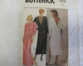 80s 12 Open Back Big Shoulder Dress PATTERN Butterick 3018 uncut