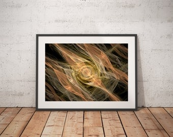 Flames Fractal art, flame art, math art, symmetric art, abstract art, home decor, minimalist art, wall art, soothing tranquil art, fractal