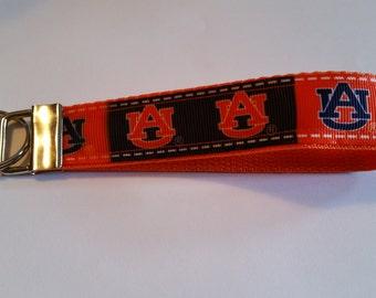 Handcrafted NCAA Auburn University Tigers Key Chain Wristlet NEW