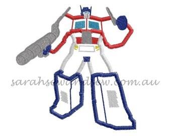 Optimus Prime (Transformers) Embroidery Design