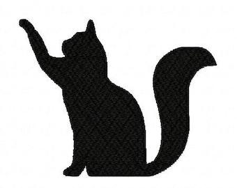 Black Cat Silhouette Etsy