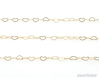 Heart Design Chain in Gold - HL-1SF / 3.0mm / 100 meters (328ft) / COG016-CH