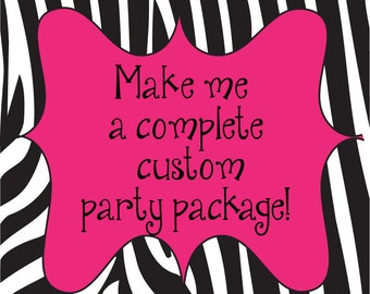 DIY Printable Custom Party Package from scratch