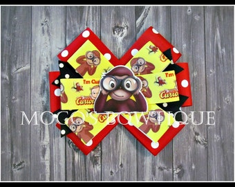 Curious George Ribbon Bow
