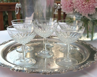 Champagne Coupe Glasses | Saucers |  French Champagne Glasses | Made in France - Set of 6 | Luminarc-Verdi-D Arques | Wedding Gift