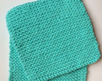 Hand Knit Pot Holders - Set of 2 - Hot Pads