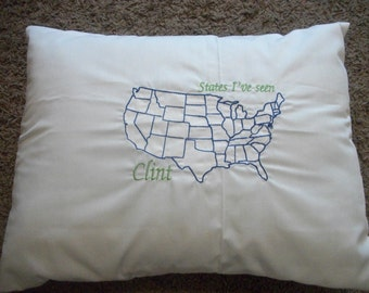 Road Trip United States Pillow