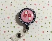ID Badge clip - Happy pills