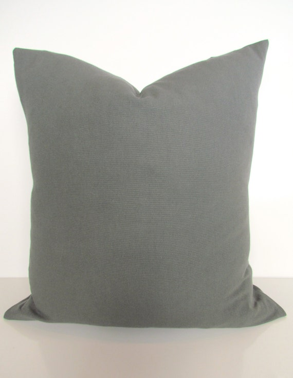GRAY Pillow Covers Throw pillows Solid Dark Grey pillows Dark