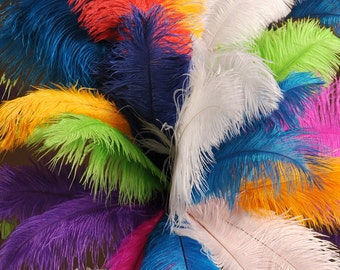 Half Pound of Ostrich Drabs 13-16 Inches (approximately 125 feathers)