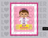 DOC MCSTUFFINS Poster Name Wall Art, Custom Wall Art Children, Personalized Name, Nursery Room, Digital Printable, Kids Room Sign