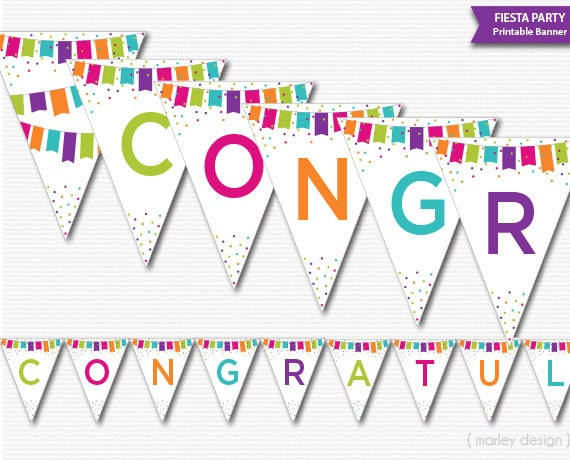 Satisfactory image intended for congratulations banner printable