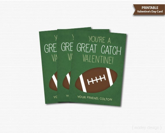Football Valentines Cards Classroom Valentines Kids