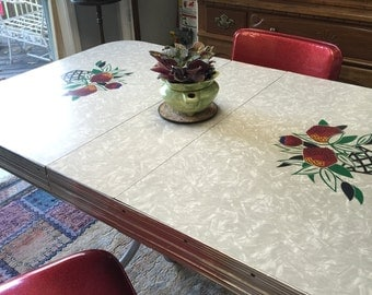 Vintage mid century Formica table and chairs, free shipping