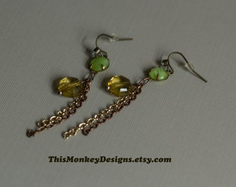 Citron Forest earrings / jewelry / nature / gifts for women / earring / summer fashion / BOHO / bohemian / gold / handmade