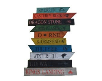Game of Thrones Wood Signs