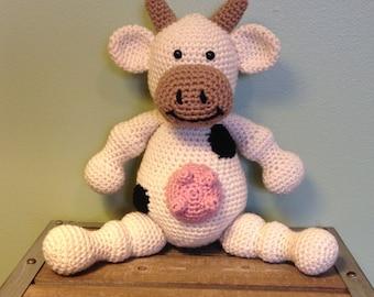 Cow Crochet Stuffed Animal
