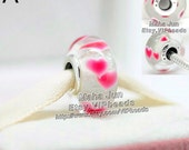 2016 Valentine Collection S925 Silver Screw Core Lampwork Murano Glass Wild Hearts Charm Beads - Fits European Charm Bracelets /ZS321