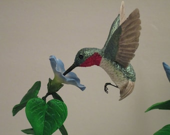 humming bird optical illusion cake topper ruby throated sugar edible gumpaste birds and blooms
