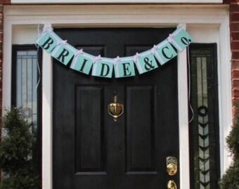 """Bridal Shower """"Bride ampersand Co."""" Party Banner"""