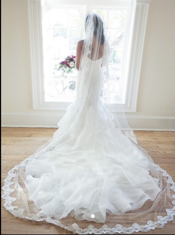 Cathedral Lace Wedding Veil