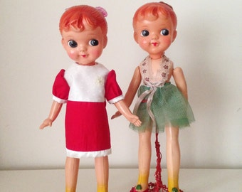 2 Vintage Celluloid Doll Beautiful Girls