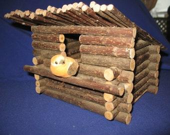 Birdhouse rustic wood.