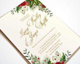 Winter Charm Wedding Invitation - SAMPLE