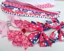 unicorn hair tie (pony-o) and clip set pink purple
