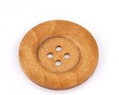 """Coffee Brown Colour Round Extra Large Wood Four Hole Button for Sewing Knitting Crocheting Craft Jewelry Art Clothes Pack of 2 6cm (2-3/8"""")"""