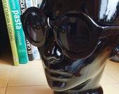 Deadstock Black Round frame Sun Glasses