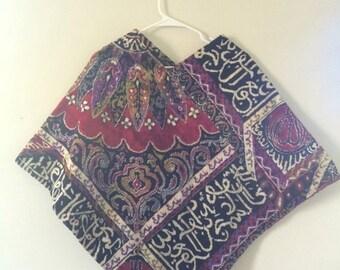GOODBYE SUMMER SALE Vtg 70's Ornate Carpet Poncho