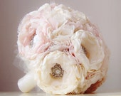 Reserved listing  - Fabric Brooch Bouquet and Accessories