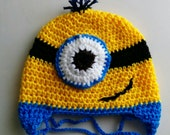 Minions hat for boys and girls.