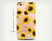 iPhone 7 Case , Galaxy S7 Case , Transparent Case , iPhone 6 Case , iPhone 6 Plus Case , Samsung Galaxy S8 Case ,  Clear Rubber , SunFlowers