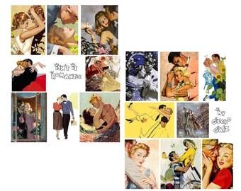Isn't It Romantic digital Collage Set