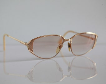 Vintage HENRY JULLIEN, OR Lamine 20/000, Merida, Gold Frame, Rx-Able Lenses. Rare Piece. Made in France