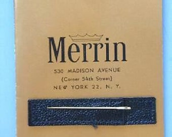 14K Solid Yellow Gold, Sewing Needle, ... Made By Merrin & Co. W/Sleeve !