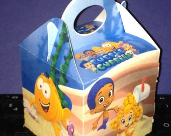 12ct Bubble guppies inspired mini gable boxes (Please review size before purchase)