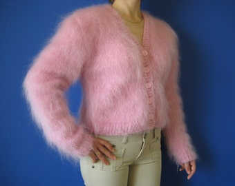 Made to Order hand knitted mohair bolero sweater shrug size S,M