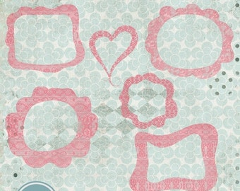 ON SALE Templates for Photographers Digital Frames, Lace Funky Frames- Photo Frames - INSTANT Download