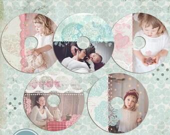 ON SALE cd/dvd  labels photoshop templates, CD Label 2 - Instant Download